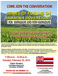 Hawaiian Sovereignty Forum February 25, 2014 - flyer thumbnail image
