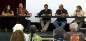 sovereignty forum panel Jan. 2014 in Kapolei