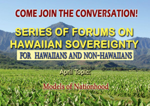 Sovereignty Conversation - April topic is Models of Nationhood